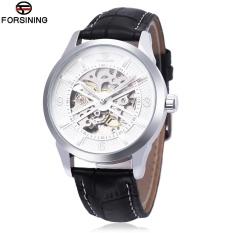 Beli Forsining F1205311 Pria Auto Mechanical Watch Luminous Hollow Back Cover Nail Skala Arloji Intl Cicilan