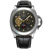Spesifikasi Forsining Men Mechanical Otomatis Dress Watch Dengan Kotak Hadiah Fsg005M3S7 Hitam Forsining