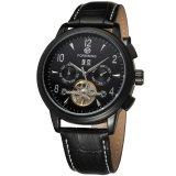 Spesifikasi Forsining Otomatis Pria Militer Tourbillon Wrist Watch Fsg16577M3B3 Intl Murah