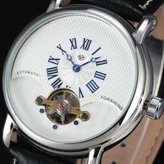 Forsining Roman Indeks Panggil Automatic Mekanis Kulit GMT835