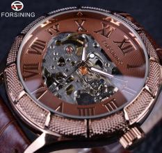 Spesifikasi Forsining Skeleton Watch Transparan Roman Nomor Merek Mewah Jam Tangan Pria Mekanik Big Face Watch Steampunk Jam Tangan Internasional Dan Harga