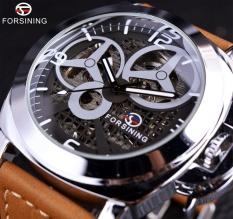 Diskon Forsining Kincir Angin Designer Brown Suede Strap Men Watch Top Brand Luxury Otomatis Skeleton Watch Sport Militer Watch Clock Pria Intl Tiongkok
