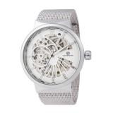 Beli Forsining Pemenang 356 Tipis Fesyen Pria Jam Tangan Mekanis Mesh Strap Skeleton Dial Transparan Case Luxury Carved Gerakan Pria Wrist Watch Intl Pake Kartu Kredit