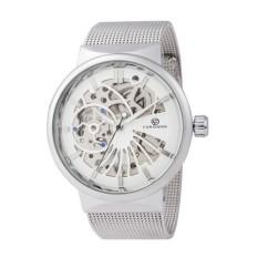 Spesifikasi Forsining Pemenang 356 Tipis Fesyen Pria Jam Tangan Mekanis Mesh Strap Skeleton Dial Transparan Case Luxury Carved Gerakan Pria Wrist Watch Intl Terbaru