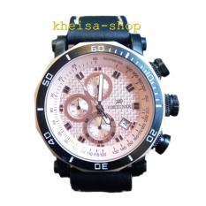 Jual Fortuner Chronograph Fr K3108G Jam Tangan Pria Leather Strap Black Fortuner Grosir
