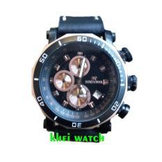 Promo Fortuner Chronograph K 3108 G Jam Tangan Pria Leather Strap Black Di Indonesia
