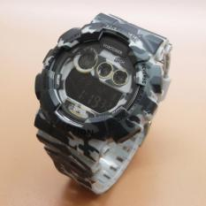 Fortuner Digital Army FT0303 - Jam Tangan Sport Pria - Full Rubber - Loreng Abu Army