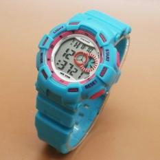 Harga Fortuner Digital Fr J1326Ts Jam Tangan Sport Wanita Rubber Strap Biru Muda Baru