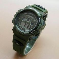 Fortuner Digital - Jam Tangan Anak Laki Laki - Rubber Strap - FR1600 Green ...
