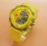 Dapatkan Segera Fortuner Dual Time Fr J 509Ad Jam Tangan Sport Wanita Rubber Strap Yellow