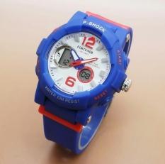 Harga Fortuner Dual Time Fr J908 Jam Tangan Sport Wanita Rubber Strap Biru Tua Baru Murah