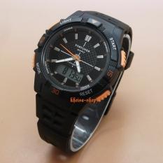 Harga Fortuner Dual Time Fr Ja 910 Jam Tangan Sport Wanita Rubber Strap Black Orange Merk Fortuner