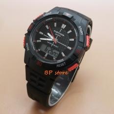 Toko Fortuner Dual Time Fr Ja 910 Jam Tangan Sport Wanita Rubber Strap Black Red Dki Jakarta