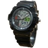 Spesifikasi Fortuner Dual Time Jam Tangan Anak Anak Rubber Strap Fr J509 Ad Black Baru