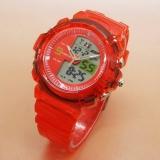 Promo Fortuner Dual Time Jam Tangan Anak Anak Rubber Strap Fr J509 Ad Red Murah