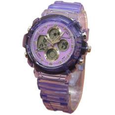 Fortuner Dual Time - Jam Tangan Anak - Anak - Rubber Strap - FR J540 AD Purple