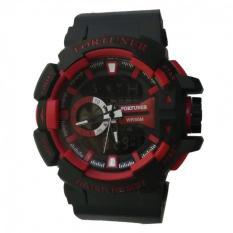 Beli Fortuner Dual Time Jam Tangan Pria Rubber Strap Fr 658 Hitam Merah Online