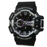 Jual Fortuner Dual Time Jam Tangan Pria Rubber Strap Fr 658 P Fortuner Murah