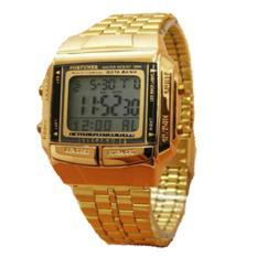 Fortuner FR 505 Data Bank - Jam Tangan Kasual Wanita - Stainless Steel - Gold
