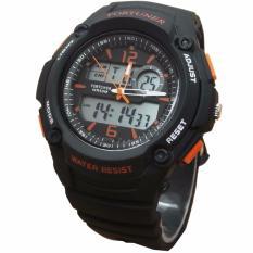 Jual Beli Fortuner Fr01397 Dual Time Jam Tangan Rubber Strap Di Indonesia