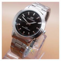 Fortuner FR0354mNY (Black Dial Silver) Mgkd Jam Tangan Pria