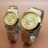 Beli Fortuner Fr4495 Jam Tangan Couple Analoge Mode Full Stainless Gold Kredit
