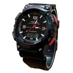 Jual Fortuner Jam Tangan Pria Dual Time Rubber Strap Black Fr893Br Dki Jakarta
