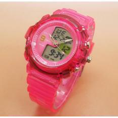 Fortuner Jam Tangan Wanita Original Dual Time - Bonus Baterai - 509 - Vermilion