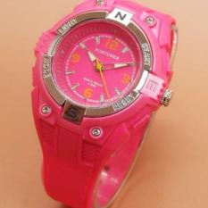 Fortuner Original Jam Tangan Anak Perempuan/Remaja - Anti Air - Rubber Strap - FR 882 Pink