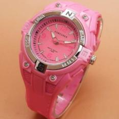 Fortuner Original Jam Tangan Anak Perempuan/Remaja - Anti Air - Rubber Strap - FR 882 Soft Pink