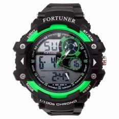 Toko Fortuner Sport Digital Combo Jam Tangan Pria Strap Rubber Hitam Hijau Ad 1602 Fortuner