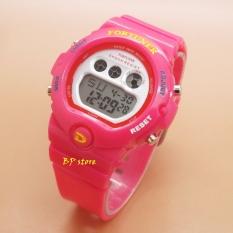 Toko Fortuner Sport Digital Fr 1619 Pink Jam Tangan Wanita Karet Fortuner