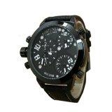 Spesifikasi Fortuner Triple Time Jam Tangan Pria Hitam Putih Leather Strap F415Bw Dan Harganya