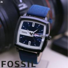 Harga Fosil Jam Tangan Pria Model Casual Trendy Leather Strap Analog Super New