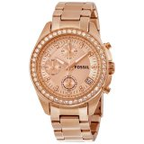 Model Fossil Es3352 Decker Chronograph Rose Gold Stainless Steel Jam Tangan Wanita Terbaru