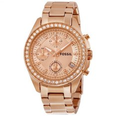 Review Toko Fossil Es3352 Decker Chronograph Rose Gold Stainless Steel Jam Tangan Wanita Online