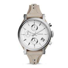 Spesifikasi Fossil Es3811 Jam Tangan Wanita Original Boyfriend Chronograph Beige Leather Watch Lengkap