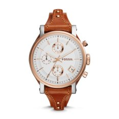 Fossil ES3837 - Jam Tangan Wanita Original Boyfriend Chronograph Cedar Leather Watch