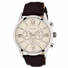 Beli Fossil Flynn Chronograph Brown Leather Men S Watch Bq 1129 Nyicil
