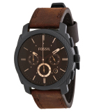 Jual Fossil Fs4656 Jam Tangan Pria Black Brown Genuine Leather Band Branded