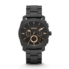Jual Fossil Fs4682 Jam Tangan Pria Machine Mid Size Chronograph Black Stainless Steel Watch Fossil Grosir