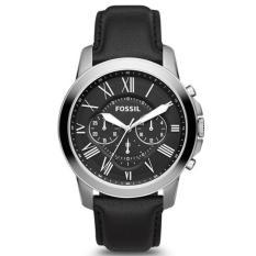 Harga Termurah Fossil Fs4812 Grant Chronograph Jam Tangan Pria Laki Laki Silver Black Hitam