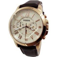 Ulasan Tentang Fossil Fs4991 Jam Tangan Casual Pria Cronograph Frame Gold Future Romawi Leather High Brown Inner Cream