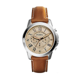 Spesifikasi Fossil Fs5118 Grant Leather Men Watch Cokelat Fossil Terbaru