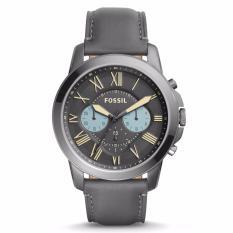 Spesifikasi Fossil Grant Chronograph Grey Leather Fs 5183 Bagus