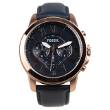 Harga Fossil Grant Chronograph Leather Men S Watch Navy Branded