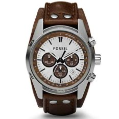 Fossil Jam Tangan Pria Fossil CH2565 Coachman Chronograph Cuff Leather Men's Watch