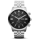 Review Fossil Jam Tangan Pria Fossil Fs4784 Townsman Chronograph Stainless Steel Watch