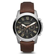 Beli Fossil Jam Tangan Pria Fossil Fs4813 Grant Chronograph Brown Leather Watch Seken