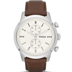 Beli Fossil Jam Tangan Pria Fossil Fs4865 Townsman Chronograph Brown Leather Watch Indonesia